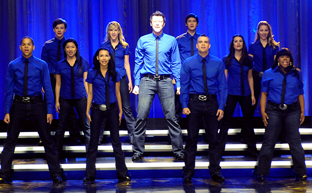 Glee, Cory Monteith   From ''The Rhodes Not Taken'' (season 1, episode 5) Is there anything more joyous than a New Directions group performance? This was one of the…