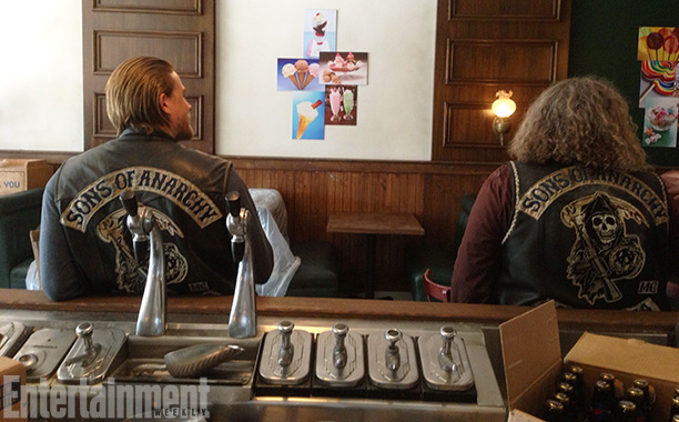Sons of Anarchy | ''Again, I just love how we don't walk away,'' says Rossi, who snapped Hunnam and Mark Boone Junior (Bobby) between takes. ''When I see people…