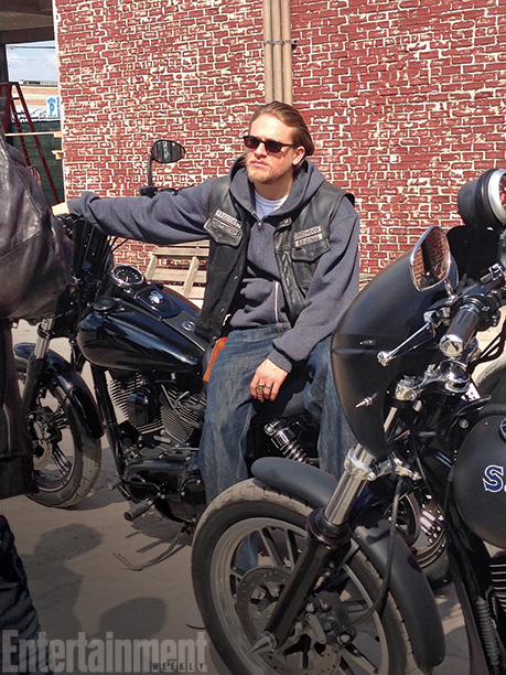 Sons of Anarchy | The gang had a laugh when news broke that Hunnam had been cast as Fifty Shades of Grey 's Christian Grey — because Hunnam brought…