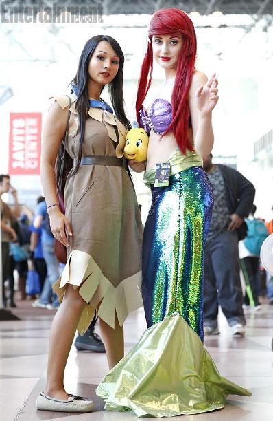 Pocahontas and Ariel