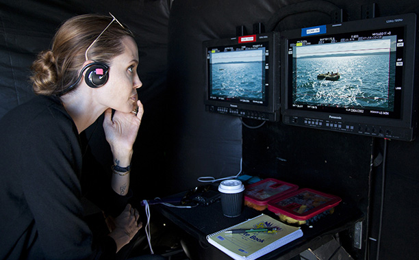 Angelina Jolie on set in Australia