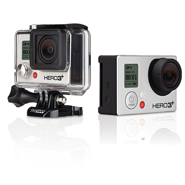 Perfect for daredevils and cineastes alike, the GoPro Hero 3+ Black Edition captures cutting edge 4K video, even underwater. ($399.99; gopro.com )
