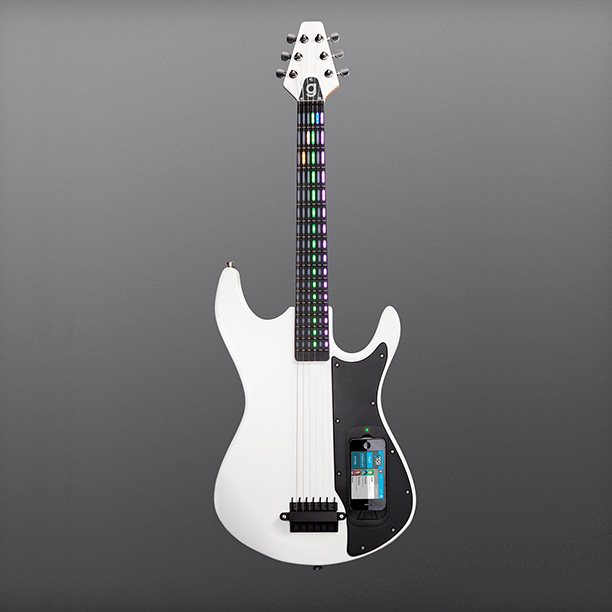The gTar is an app-enabled smart guitar that looks and feels like the real thing...with an illuminated interface and light-up frets. ($399; fab.com )
