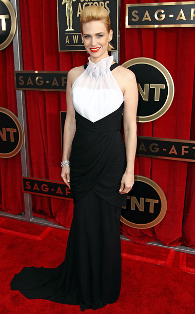 Style, Style: Red Carpet, ... | The bib-like neckline of her Prabal Gurung dress had me wondering if Jones had stopped off at Red Lobster on her way to the SAG…