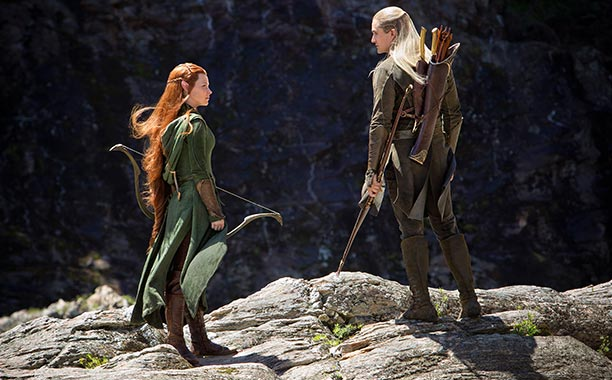Tauriel (Evangeline Lilly) and Legolas (Orlando Bloom)