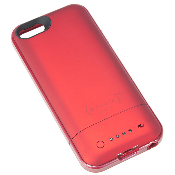 The (PRODUCT) RED Mophie Special Edition Juice Pack Air gives iPhone users 100 percent extra battery life and helps fund the fight against AIDS. (from…