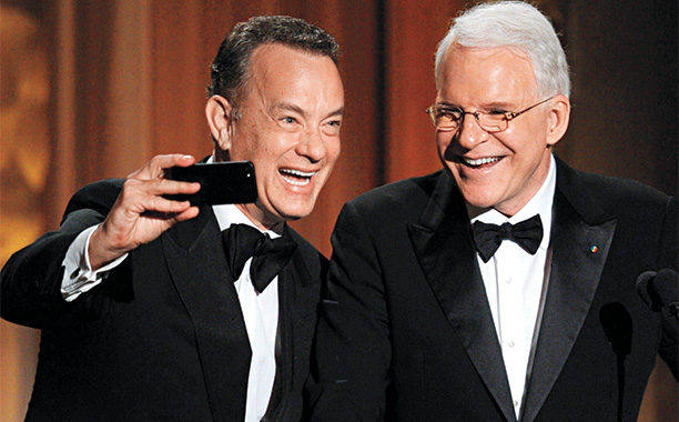 Tom Hanks and Steve Martin at the Governors Awards