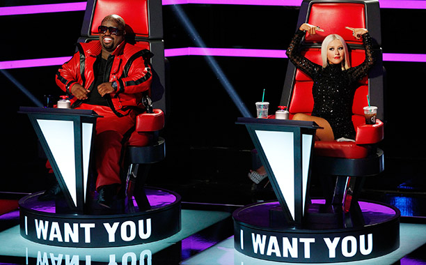 CeeLo Green and Christina Aguilera on The Voice