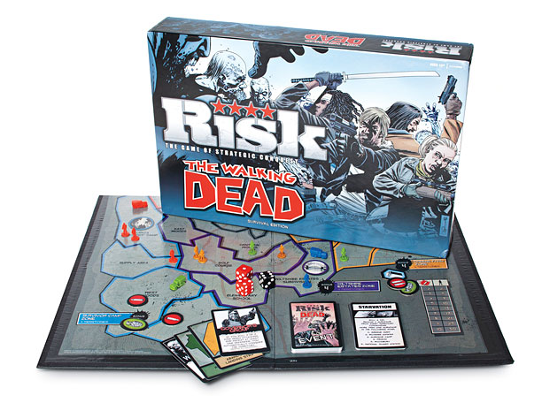 Style, Holiday Gift Guide | The object of The Walking Dead Risk ; conquer the post-apocalyptic United States. While fending off zombies, naturally. ($49.99; thinkgeek.com )