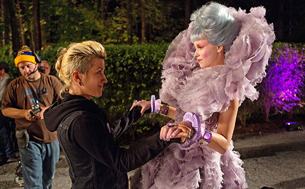 Costume designer Trish Summerville and Elizabeth Banks
