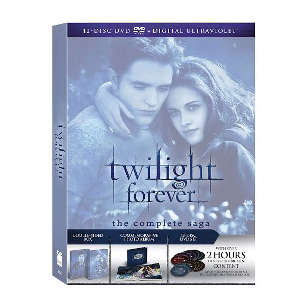 Style, Holiday Gift Guide | Robert Pattinson and Kristen Stewart's romance may be over, but Edward and Bella will always be together in Twilight Forever: The Complete Saga , a…