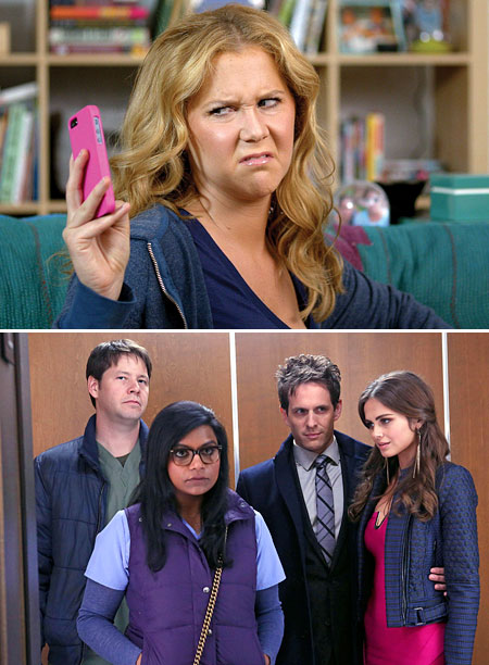 Schumer : Comedy Central, season 1, episode 2; Mindy : Fox, season 2, episode 8 Amy Schumer, speaker of lady truths, nailed what women really…