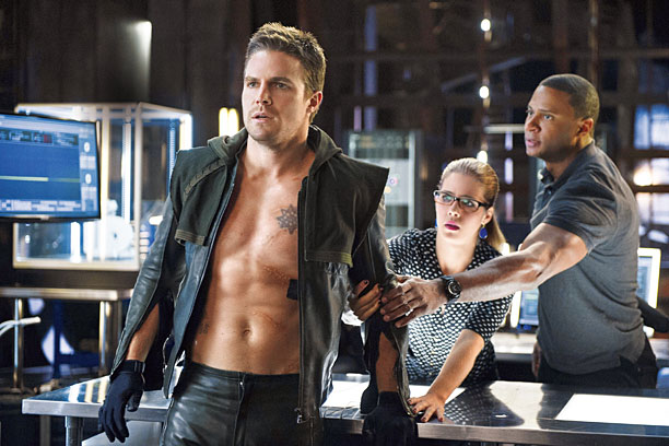 IS ARROW HITTING ITS TV TARGET? Abs-olutely! Olivier Queen (Stephen Amell) recalibrates his strategy in season two.
