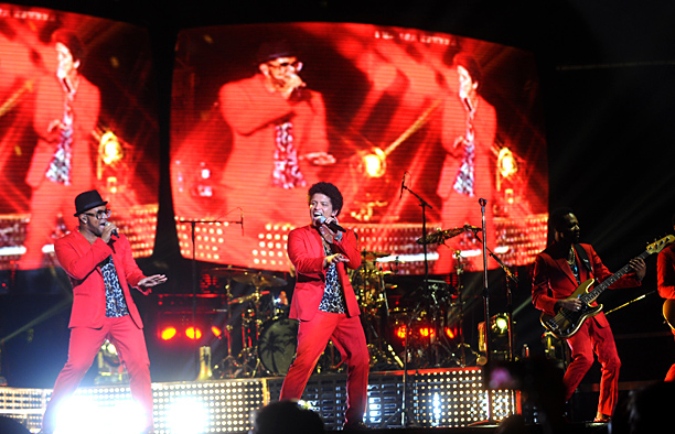Bruno Mars | Get the funk out! No, really: Bruno's joyful, brassy, gloriously sweaty revue taught us that a mainstream artist in 2013 can be both utterly new-school…