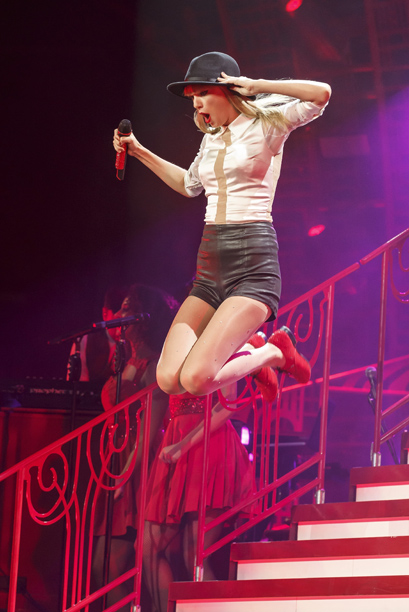 Red, Taylor Swift | Like another culture-dominating blonde from once upon a time, Swift may still be not a girl, not yet a woman. But her latest tour showcased…