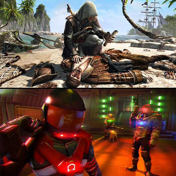 BEST: 9. Assassin's Creed: Black Flag / Far Cry 3: Blood Dragon (TIE)