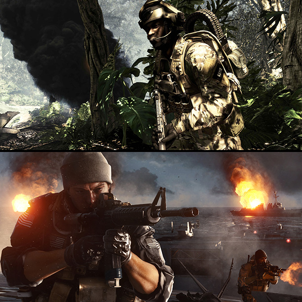 Call of Duty: Ghosts and Battlefield 4 are two flavors of tedious futuristic warfare. Both have fine multiplayer systems, but the campaigns feel like avant-garde…