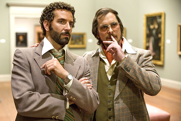 I don't want to spoil any of American Hustle , a wonderful dark comedy about money, ambition, and men and women on the make, but…