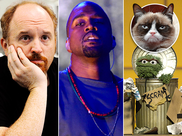 Entertainers Of The Year   According to Grumpy Cat, ''Meow, meow, meow-meow.'' ( Translation: ''Entertainers are the worst. But Kanye West, Louis C.K., and Oscar the Grouch have all been…