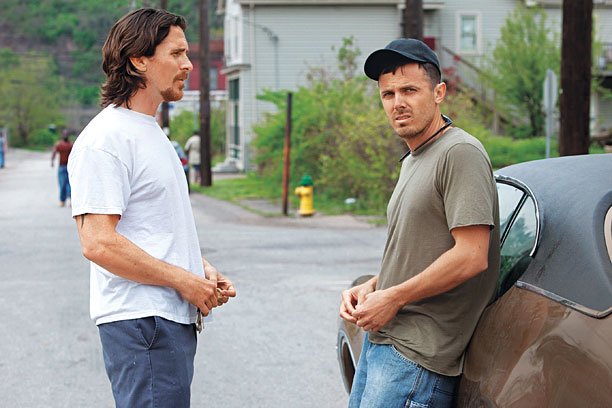 FURN GULLY Christian Bale and Casey Affleck are both brilliant as downtrodden brothers in Out of the Furnace .