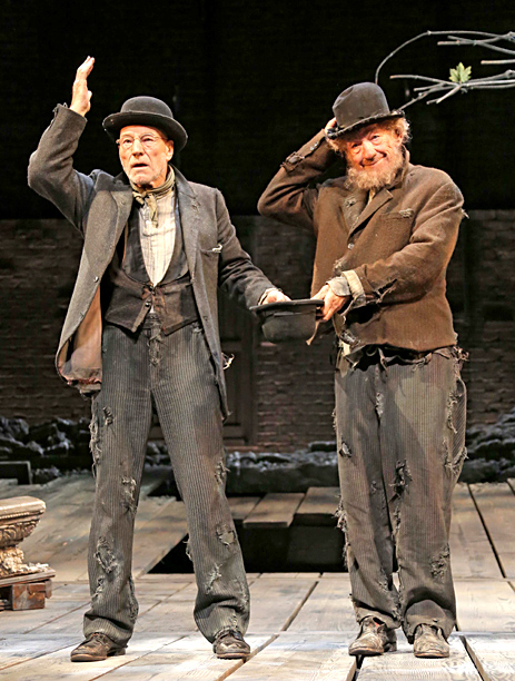 ''What do we do now, now that we're happy?'' Ian McKellen's tramp Estragon asks at one point during Samuel Beckett's classic allegory. Patrick Stewart's Vladimir…