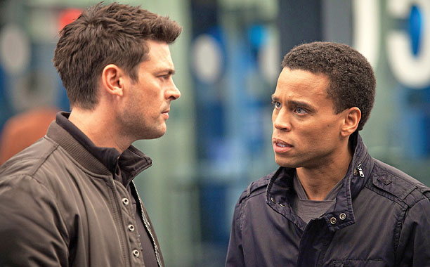 BOTS WITH HEARTS? Karl Urban plays Detective John Kennex and Michael Ealy plays an android named Dorian.