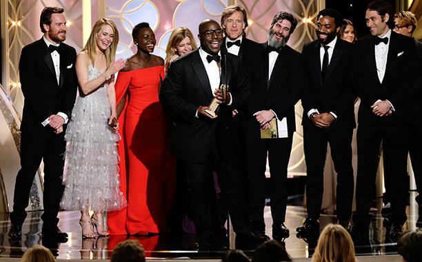 After months of front-runner awards buzz, 12 Years a Slave looked like it might be shut out of this year's Globes completely. But when the…