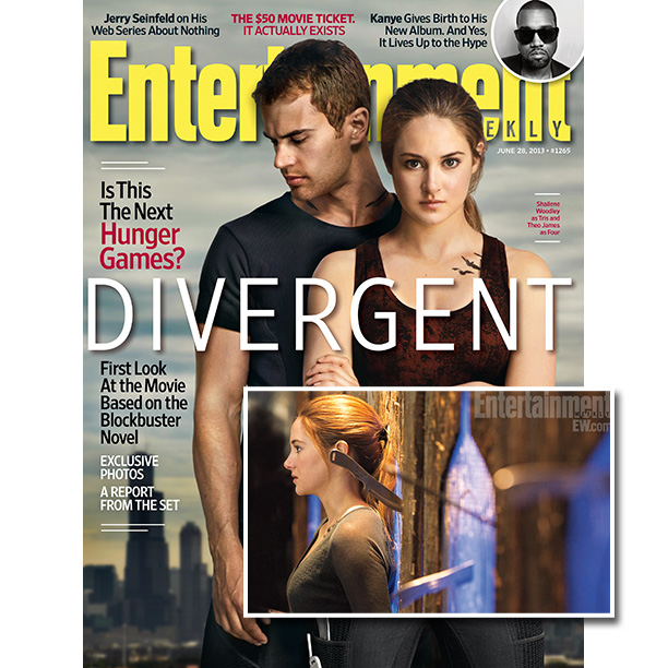 June 28, 2013 EW's Divergent cover touting the big-screen translation of the dystopian YA bestseller, offered fans an early look at stars Shailene Woodley and…