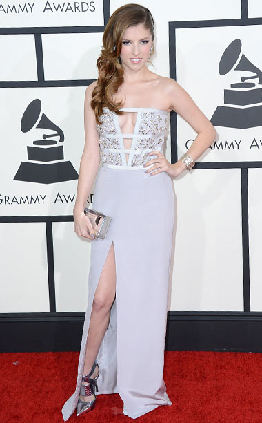 Style, Grammy Awards, ... | The actress introduced the world to her cleavage, busting out of her bejeweled column gown. C+