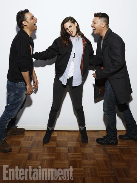 Payman Maadi, Kristen Stewart, and Lane Garrison, Camp X-Ray