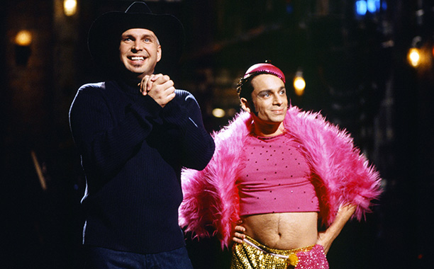 Saturday Night Live   Double duty date: Nov. 13, 1999 Sure, the country megastar meant for his alt-rock alter ego Chris Gaines to be taken seriously. But if you…