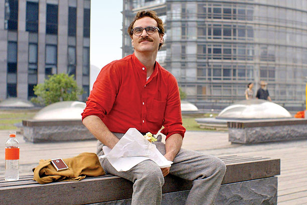 SOMETHING ABOUT 'HER' Joaquin Phoenix and Scarlett Johansson star in the Spike Jonze helmed Her .