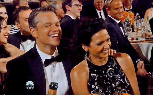 Matt Damon may have been a relative ''garbage man'' according to Tina & Amy, but he might just get promoted for being game through a…