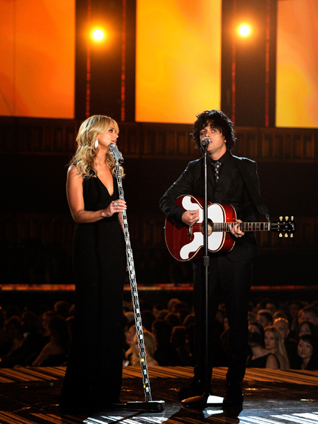 Grammy Awards, Grammy Awards 2014 | Following a lovely bit of piano by Lang Lang in honor of Van Cliburn, Billie Joe Armstrong and Miranda Lambert teamed up for a bummer.…