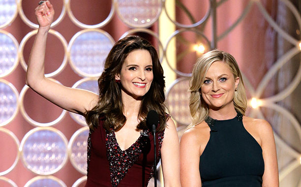 Under intense pressure to repeat their 2013 hosting success , Amy Poehler and Tina Fey delivered another monologue master class that singed Hollywood at large…