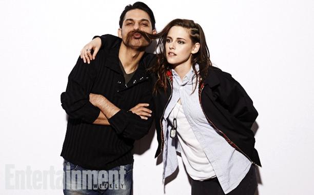 Payman Maadi and Kristen Stewart, Camp X-Ray