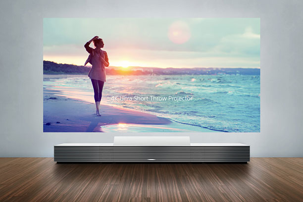 Estimated to cost upwards of $30,000 when it debuts later this year, Sony's cabinet-like ''short-throw'' projector beams a towering 147-inch image (12-plus feet diagonal) onto…