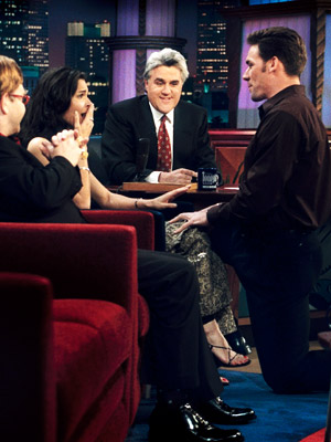 The Tonight Show With Jay Leno, Angie Harmon, ... | Aired: March 13, 2000 The Law & Order star thinks she's chatting with Leno to talk up her show until her boyfriend, the New York…