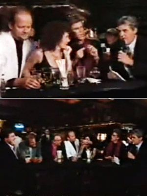 Cheers, The Tonight Show With Jay Leno | Aired: May 20, 1993 Leno takes his show to Boston, where the raucous cast members of Cheers are celebrating the series finale — and most…