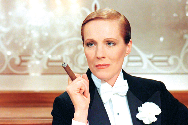Julie Andrews | In Blake Edwards' musical about a singer who finds work at a drag bar, Andrews played a woman playing a man playing a woman, a…