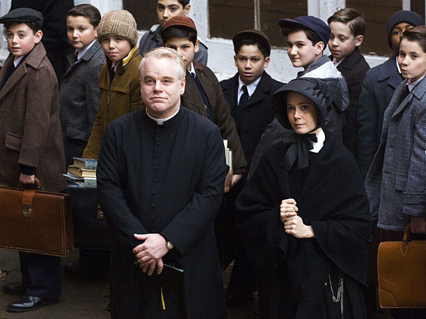 Philip Seymour Hoffman | What exactly did he do? By the end of this drama about an aging nun (Meryl Streep) who accuses a dynamic young priest (Hoffman) of…