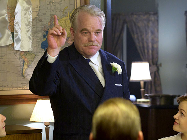 Philip Seymour Hoffman | This Paul Thomas Anderson collaboration earned Hoffman his fourth Oscar nomination as Lancaster Dodd — the man who stole every spotlight, even at his daughter's…