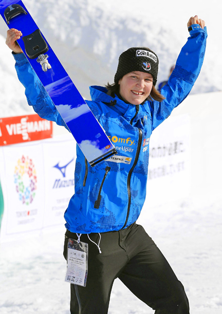 Representing: France Event: Ski Jump Her Story: Mattel is considered one of the world's best female ski jumpers?and she's only 18. The French skier jumped…