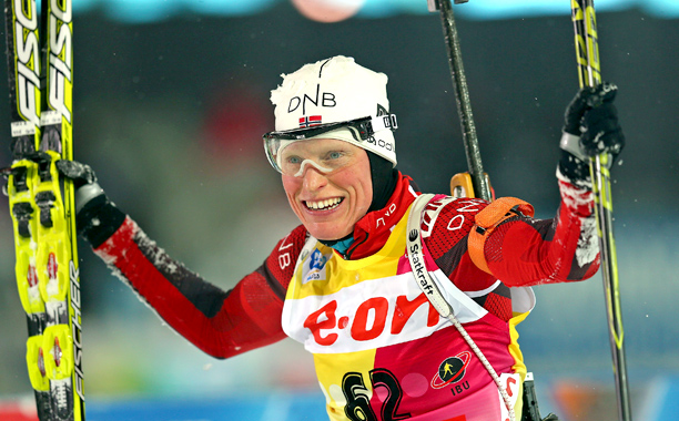 Representing: Norway Event: Biathlon Her Story: Berger made twice the history in the last Winter Games, not only landing her country's first gold for the…
