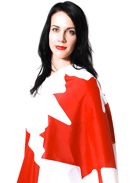 Winter Olympics 2014   Age: 24 Sport: Freestyle Skiing Team: Canada Fun Fact: Groenewoud wears red lipstick, purple underwear, and purple hair ties at every competition. — Pamela Gocobachi