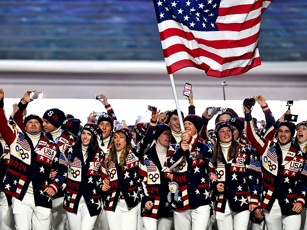 Winter Olympics 2014 | Team USA! Some of the U.S. athletes referred to the festivities as the Opening Sweatermony.