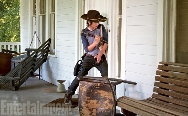 The Walking Dead | We suppose breaking and entering is not such a big deal in the zombie apocalypse. With the prison gone, it appears Carl (Chandler Riggs) is…