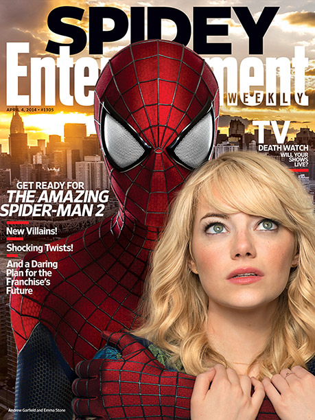 Andrew Garfield, Emma Stone | For more on-set access and info about the franchise's future, pick up a copy of EW on newsstands or buy it here .