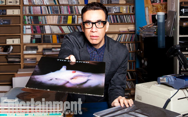 Fred Armisen photographed on March 5, 2014, at Other Music in New York City