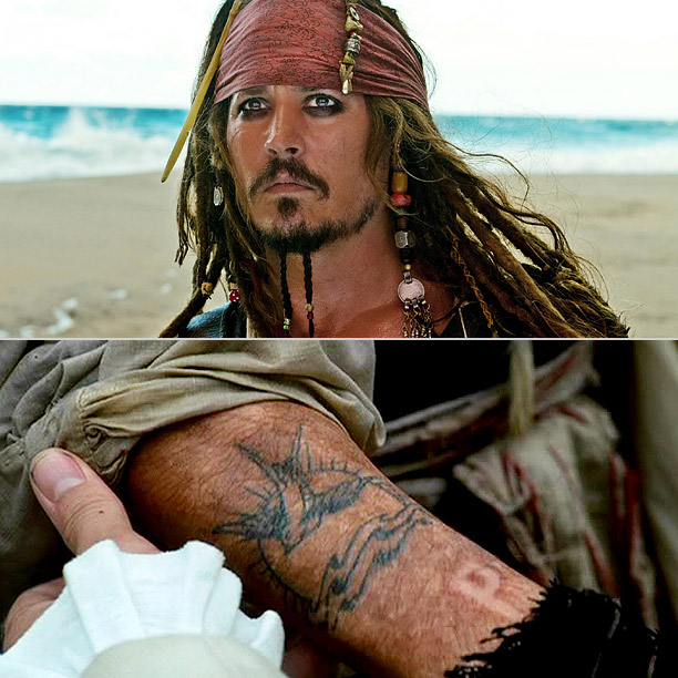What's a pirate without some ink? Johnny Depp liked Jack Sparrow's tattoo so much that he got the design tattooed on his right arm for…